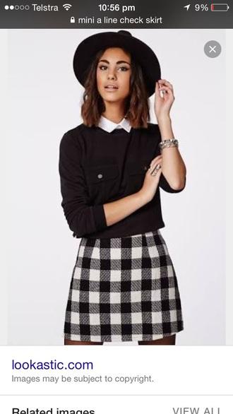 skirt black and white