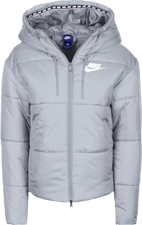 jacket, grey, blue, nike, coat, winter coat, puffer jacket