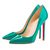Fabulous Pigalle 120mm Red Bottom Pointed Toe Pumps Jade   : Sexy and Stylish red bottom shoes discount sale