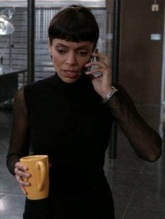 sweater black sheer bones tv show tamara taylor