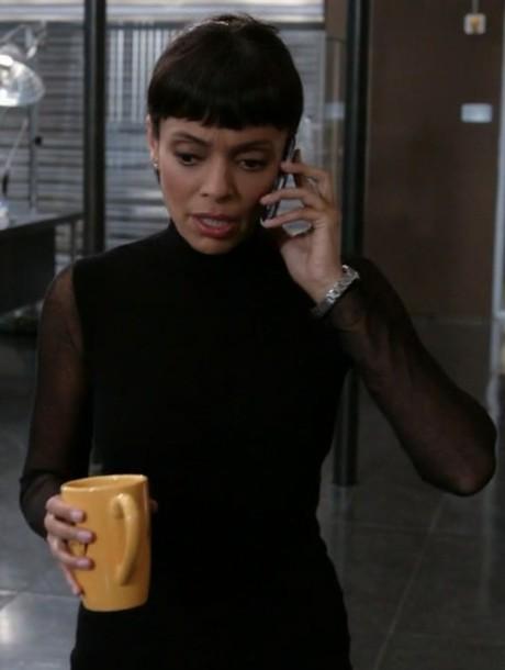 sweater,black,sheer,bones tv show,tamara taylor