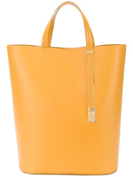 Sophie Hulme women leather yellow orange bag