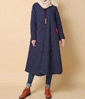 coat,padded long overcoat,winter coat