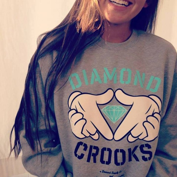 blouse diamonds diamond crooks top