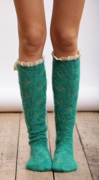 shoes teal socks pretty socks knitted socks knit wool socks knit teal socks pretty boot sucks