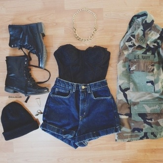 coat camouflage jacket outfit top