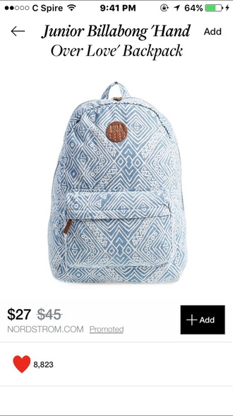 bag bookbag backpack pack aztec tribal pattern