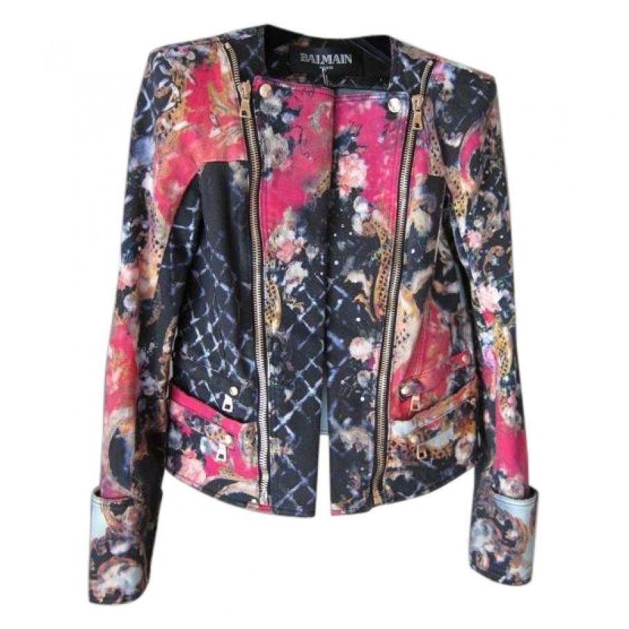 0c3286ed Floral biker jacket BALMAIN Multicolour size 38 FR in Cotton All seasons -  655503
