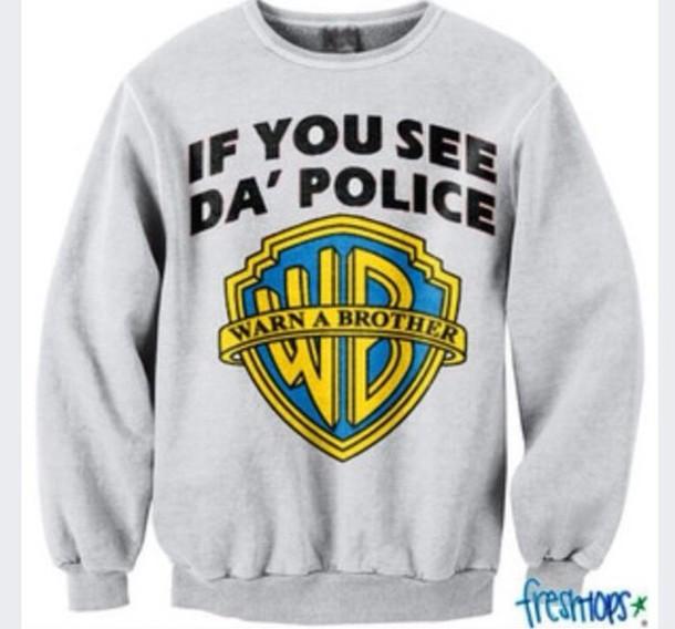 sweater warm crewneck grey sweater style funny shirt oversized sweater