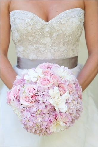 dress wedding dress pretty dress pretty wedding dress white wedding dress white wedding pink wedding dress pink flowers cute wedding dress love it love wedding white dress
