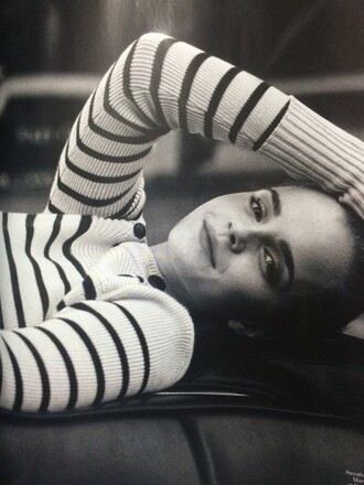 sweater emma watson fall outfits fall sweater stripes striped sweater editorial