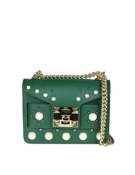 Salar pearl bag leather green