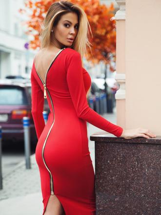 dress back zipper zipper dress black dress