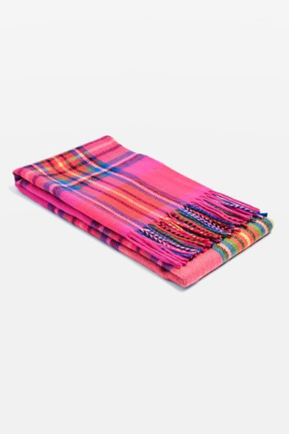 Topshop neon scarf pink