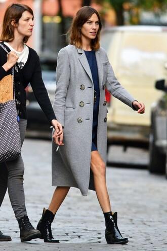 coat alexa chung boots grey