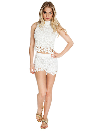 Crochet High Waisted Shorts