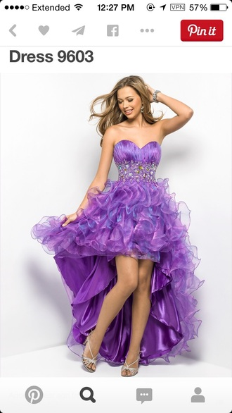 dress prom dress purple dress high-low dresses high low dress sparkles long prom dress pretty pretty dress