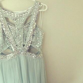 dress seafoam green teal prom dress formal dress floor length dress