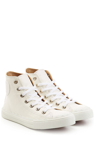sneakers. scalloped sneakers leather white shoes