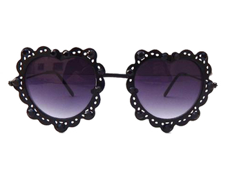 sunglasses black sunglasses heart sunglasses festival coachella