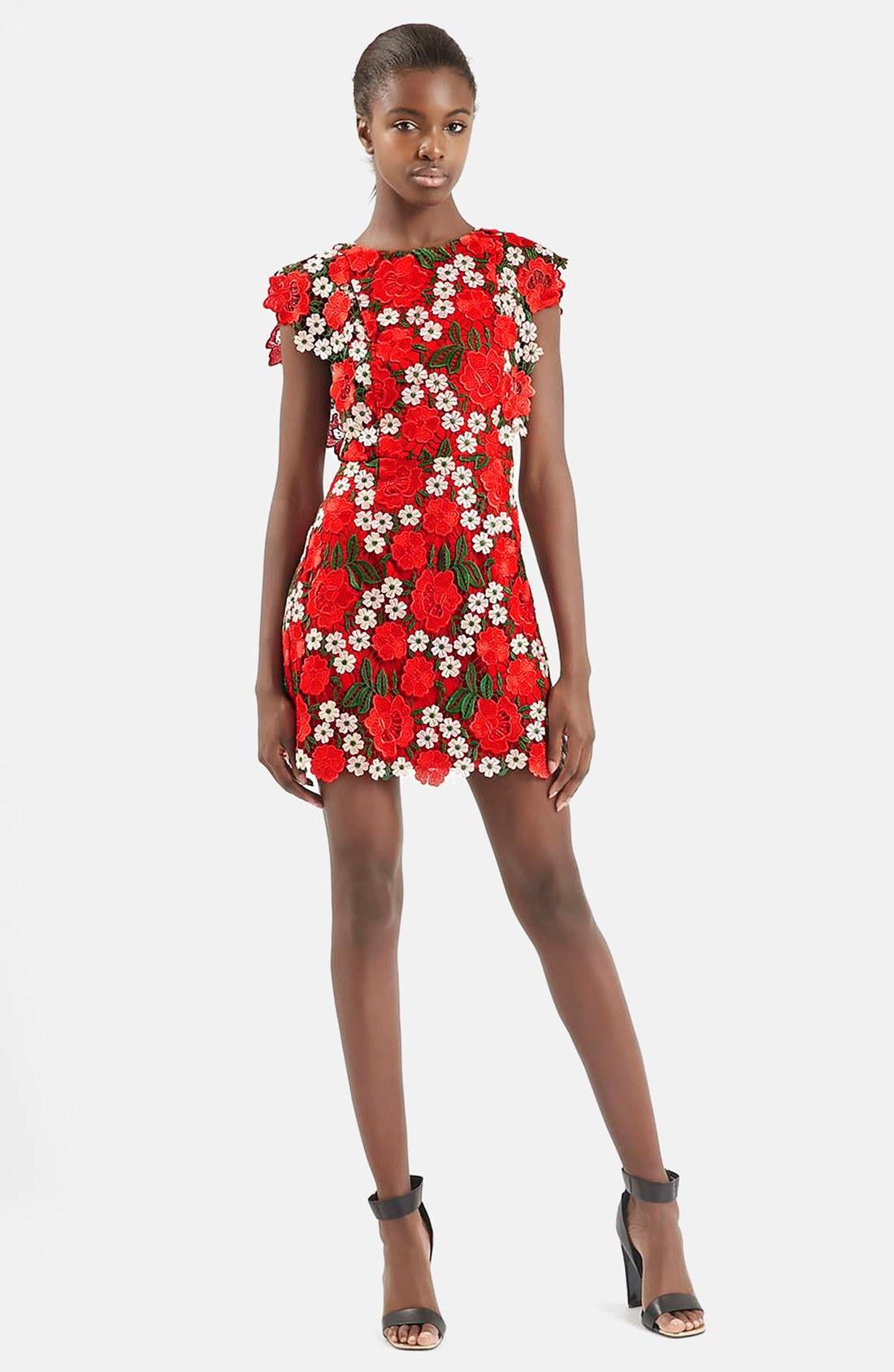 78046d79 Topshop Floral Lace A-Line Dress | Nordstrom