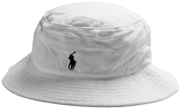 Ralph lauren white bucket hat