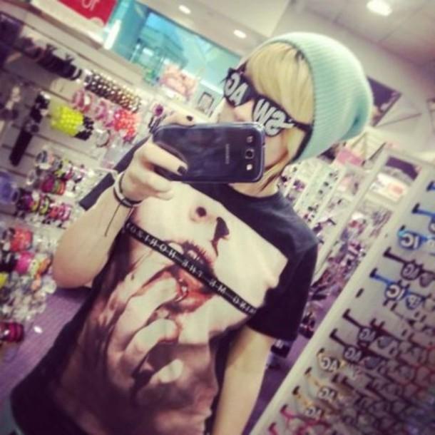 sunglasses swag t-shirt hat beanie bring me the horizon