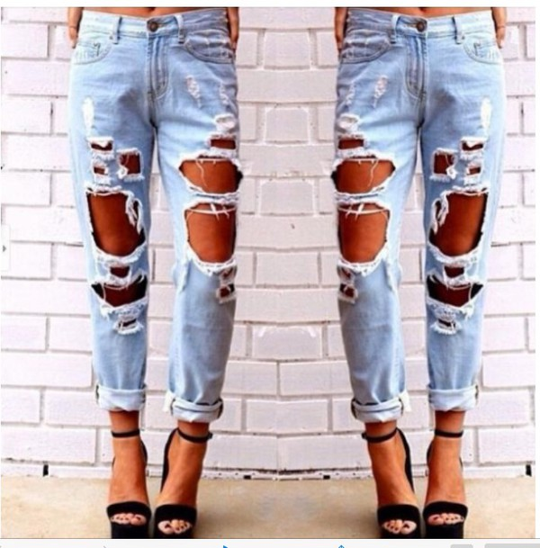 Women's extreme ripped jeans – Global fashion jeans collection