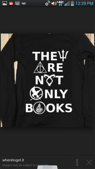 sweater harry potter the hunger games divergent percy jackson the mortal instruments