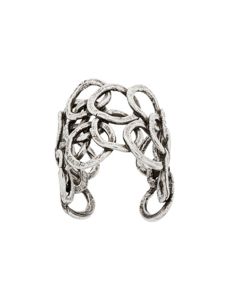 Gas Bijoux women ring silver grey metallic jewels