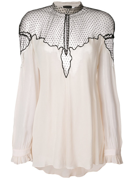 blouse sheer women nude top