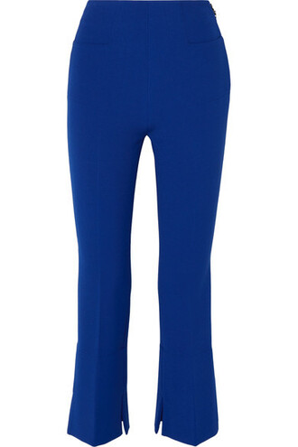 pants cropped blue royal blue