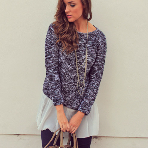 Weave casual sweater – sirenlondon