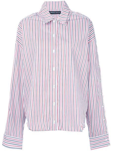 Y / Project shirt striped shirt oversized women cotton top