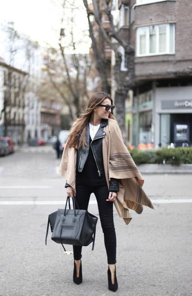 b a r t a b a c blogger jacket jeans top shoes bag sunglasses jewels
