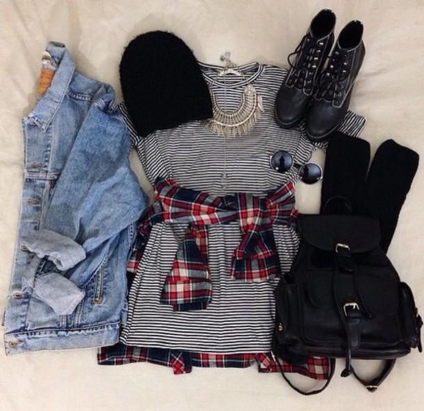 jacket hat dress blouse shoes bag