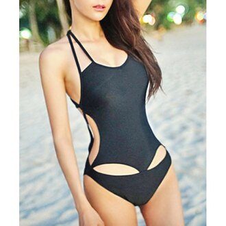 swimwear rose wholesale strappy lace up sexy style girly beach sexy bikini hipster black