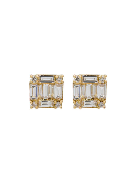 Shay women earrings stud earrings gold grey metallic jewels
