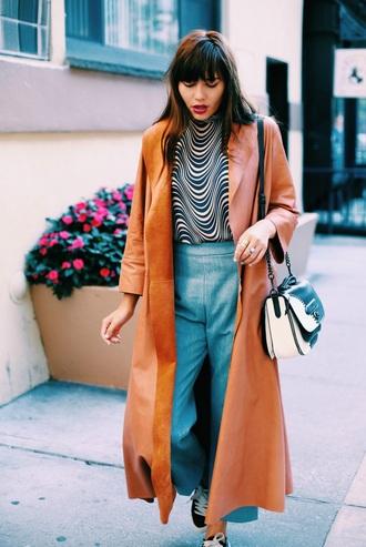 natalie off duty blogger top pants jacket bag shoes jewels