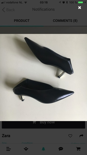 16641bd232f shoes v cut heels pumps pointed toe pumps low heels zara zara shoes celine  inspired black