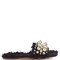 Eco-shearling faux-pearl embellished sandals