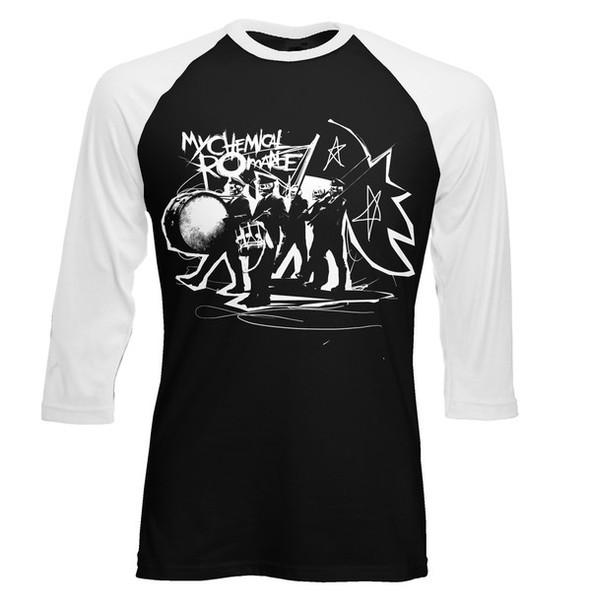 t-shirt my chemical romance mcroy my chemical romance band t-shirt band merch