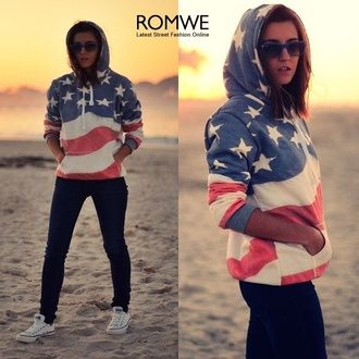 sweater american flag