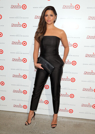 jumpsuit camila alves black sandals