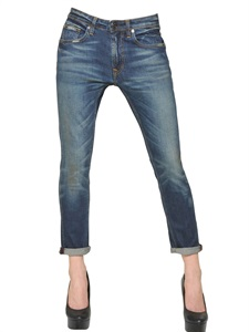 LUISAVIAROMA.COM - TRUE RELIGION - LOW RISE BOYFRIEND STRETCH DENIM JEANS