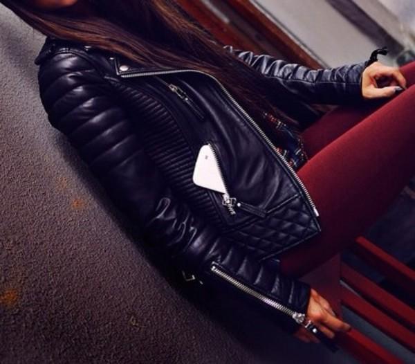 jacket black leather biker jacket leather leather jacket