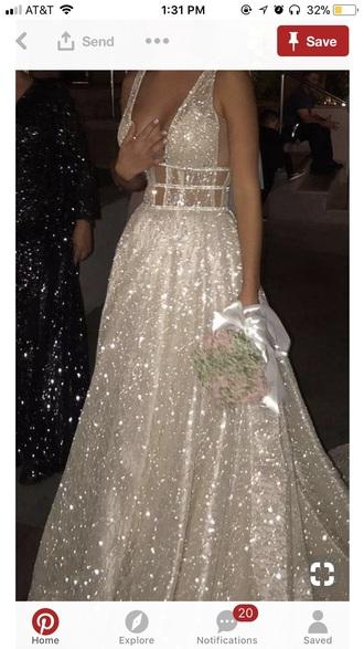 dress white sequins sparkle