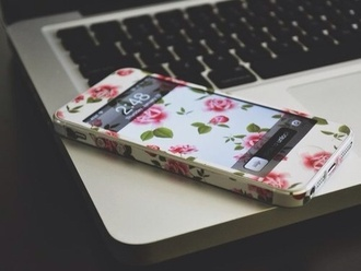 phone cover iphone case iphone housing floral accessory accessories iphone ipod cover white pink flowers tumblr tumblr post floral phone case