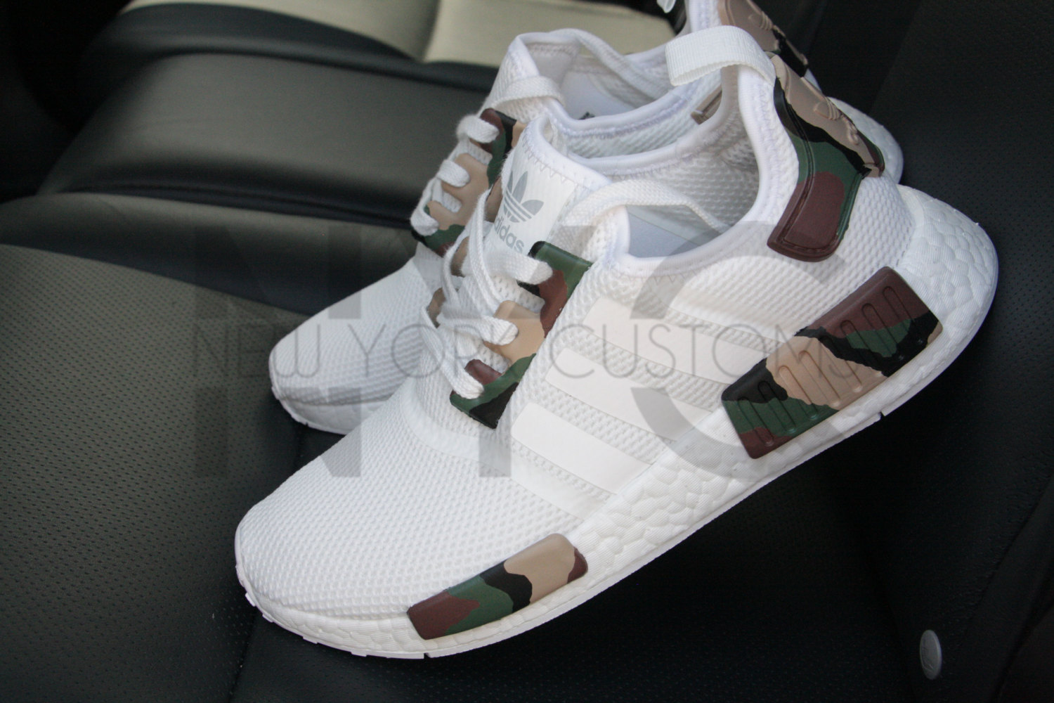 0cc0bbe225f3 Camo Adidas NMD Runner Triple White Custom Men