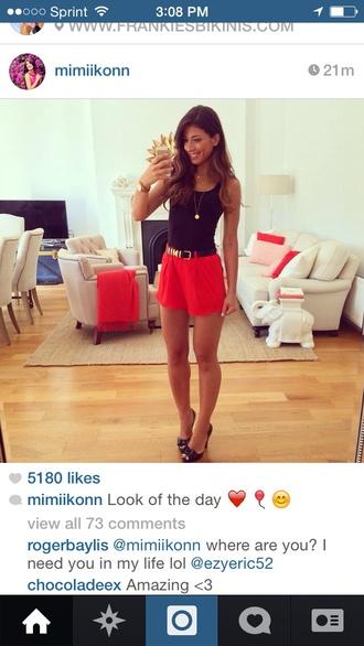 shorts mimiikonn instagram red shorts